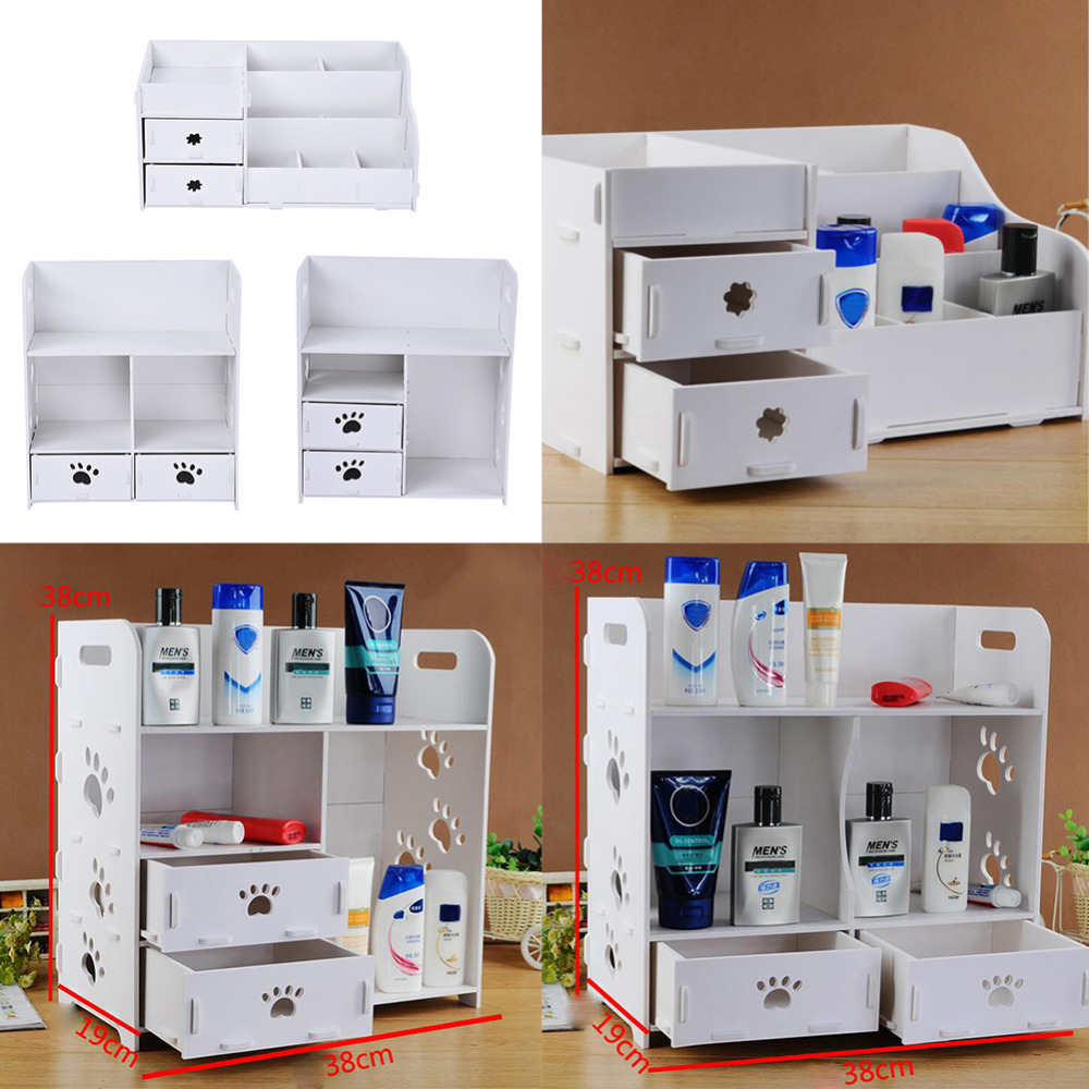 bathroom box  styles diy removable makeup cosmetic organizer storage box dresser desk srorage box bathroom waterproof