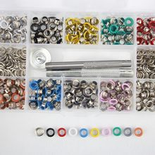 DIY materials.5mm color spray Eyelets .rivets. Corn. buttonholes. Multicolor buckle. Shoelaces eye Metal hole Eyelet tool H(China)
