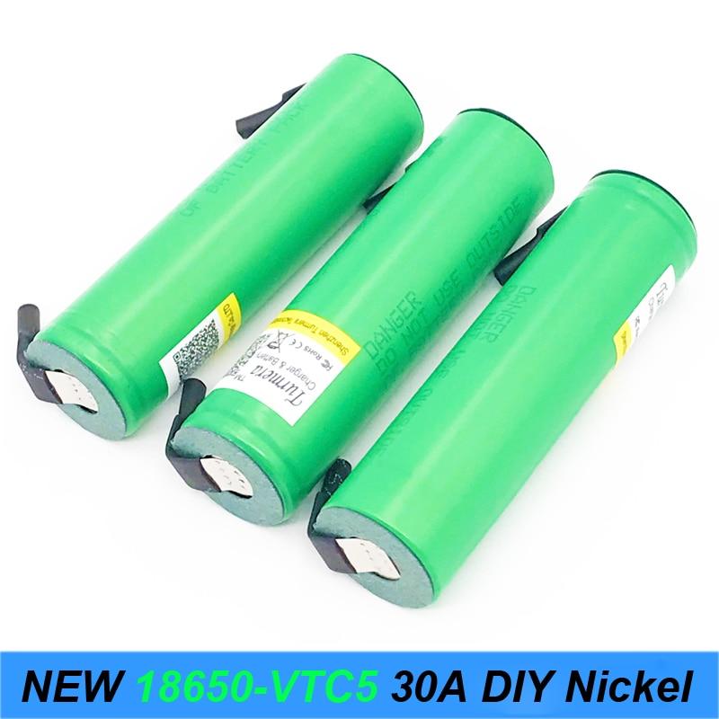 18650 vtc5 30Amp Rechargeable us18650VTC5+stripe 2600mAh Rechargeable Battery 18650 E-cigarette/toys tools flashlight battery AU