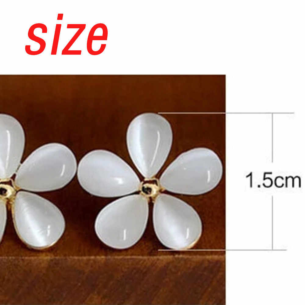 2019 White Flower Ear Nail Pure White Cherry Ear Nail A Birthday Present Jewelry Gift Stylish high quality  aretes de mujer #35