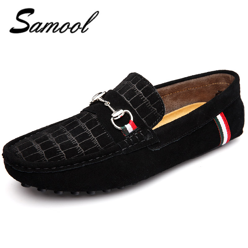 2018 Fashion Men Casual Driving Shoes Leather Genuine slip on Man - Men's Shoes - Photo 1