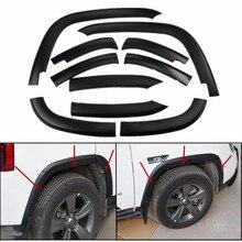 10 шт Полный Размер передних и задних колес крыло вспышки крышка протектор молдинг для Jeep Compass 2011- черный