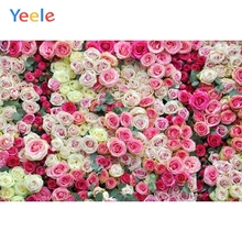 Yeele Photographic Backdrops Pink Red Rose Photocall Wedding Decoration Portrait Photography Backgrounds For the Photo Studio
