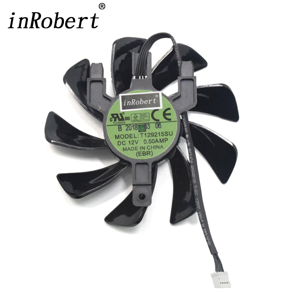 Original New 85mm T129215SU Cooler Fan Replace For Sapphire Radeon RX 570 RX570 ITX Graphics Card Cooling Fan 2018 year