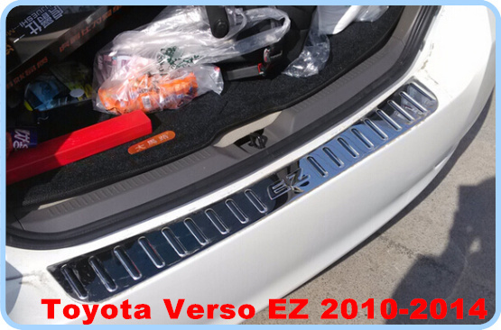 High quality stailness steel 1pcs build-out rear pumper protection sticker footplate For Toyota verso EZ 2011-214 oasis pumper mkt9961red красный