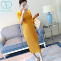 2116# V Neck Half Sleeve Maternity Long Dress with Belt 2017 Spring Autumn Maternity Clothes for Pregnant Women Pregnancy Dress