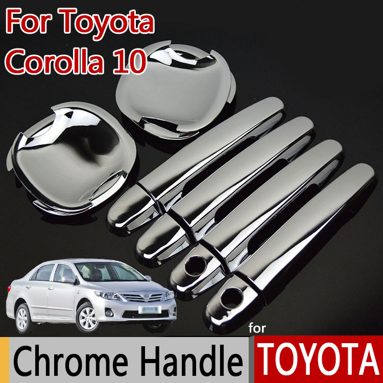 for <font><b>TOYOTA</b></font> <font><b>Corolla</b></font> 10 E140 <font><b>E150</b></font> (2006-2013) Luxurious Chrome Door Handle Car Covers Accessories Car Stickers Car Styling image