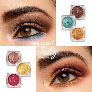 PHOERA 1Pc Single Color Makeup Pearlescent Gel Jelly Eyeshadow Contour Long Lasting Metallic Waterproof Eye shadow Cream TSLM2