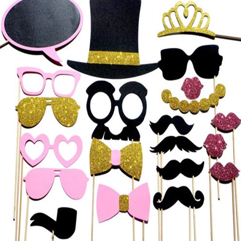 30pcs Hen Party Mask Moustache Photo Booth Prop Decoration Supply QF06 E