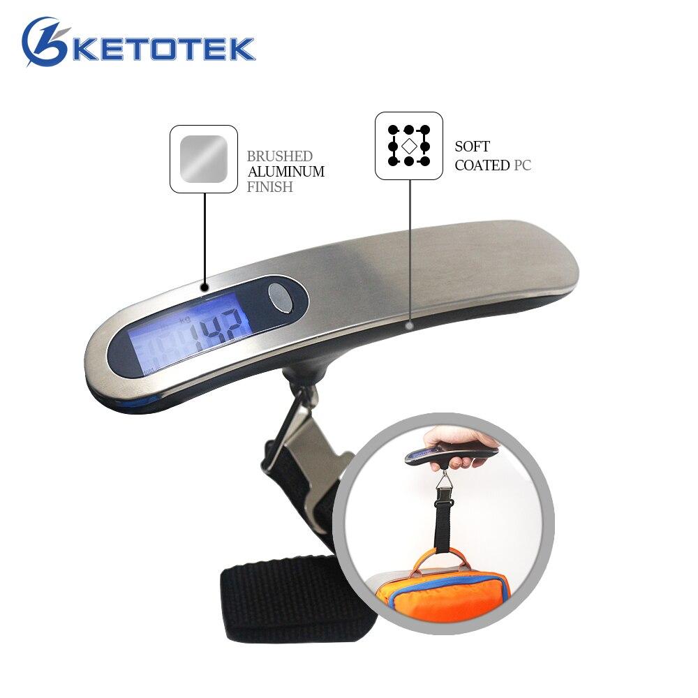 50 kg/10g Numérique Mini LCD Bagages Échelle Portable Balance Électronique Poids Équilibre Voyage Hanging Crochet Échelle