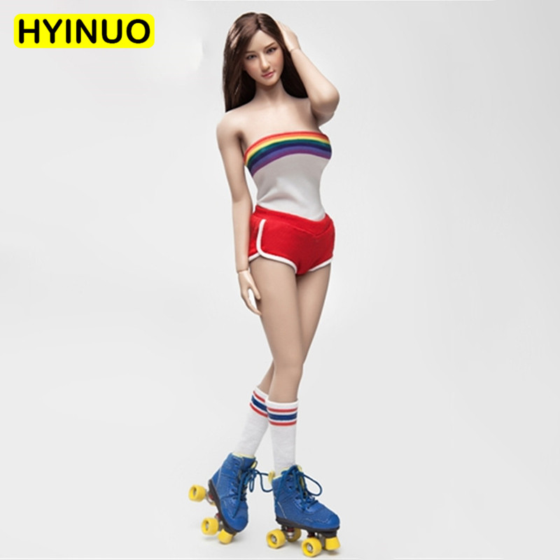 1/6 Scale FGC2017 Skating Girl Sexy Hot Pants Shorts Female Sportswear Clothes Clothing Set For 12 Action Figure Female Body1/6 Scale FGC2017 Skating Girl Sexy Hot Pants Shorts Female Sportswear Clothes Clothing Set For 12 Action Figure Female Body