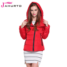 Jahurto New Arrival High Quality Winter Jackets European Style Hooded  Ladies Quilted Coat Wadded Short Women Overcoat