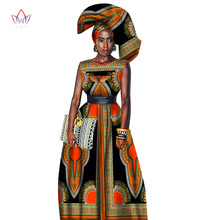 Traditional African Women Clothing Print Wax Custom Long Dresses for Africa Dashiki WY1871
