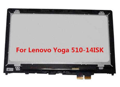 Gread A+14 inch LCD Touch Screen Display Assembly with Frame 1920*1080 For Lenovo Yoga 510 14 Yoga 510-14 Yoga 510-14ISKGread A+14 inch LCD Touch Screen Display Assembly with Frame 1920*1080 For Lenovo Yoga 510 14 Yoga 510-14 Yoga 510-14ISK