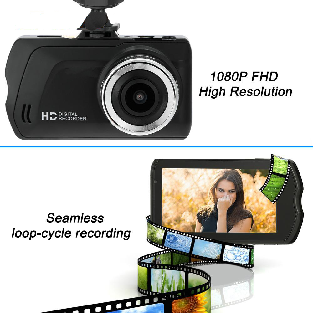 3.0 Inch Car DVR Novatek FH03 Camera Full HD 1080P Recorder 140 Degrees WDR G-sensor Night Vision Registrator Dashcam автомобильный видеорегистратор k6000 car camera car dvr 1080p full hd k6000 25fps g 140