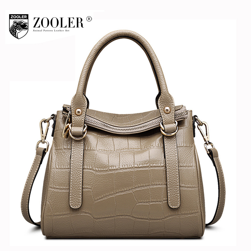 ZOOLER Fashion Casual Genuine Leather Handbag Female Crocodile Pattern Shoulder Bags Handbags Women Famous Brands 2017 Tote Bag 2017 new arrival bags handbags women famous brands genuine leather casual tote plaid women s handbag totes single shoulder bag
