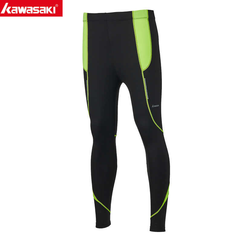 Kawasaki Fitness Men Running Tights  High Elastic Compression Sports Leggings Quick Dry Training Pants Gym Socks  RTP-T1009