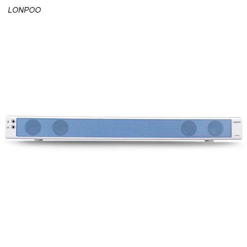 LONPOO Portable Speaker USB Surround TV Soundbar Subwoofer Home theater Support AUX phone PC TV laptop desktop