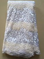 Best Quality African Lace Fabric Yellow Swiss Voile Lace High Quality Emboridery French Mesh Lace Fabric