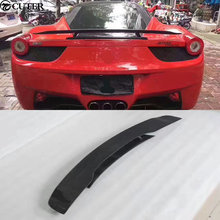 458 Carbon Fiber Car body kit Rear Trunk Spoiler Lip Wing For Ferrari
