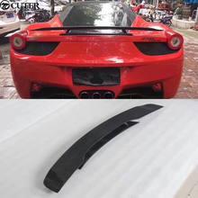 458 углеродное волокно комплект кузова автомобиля задний спойлер