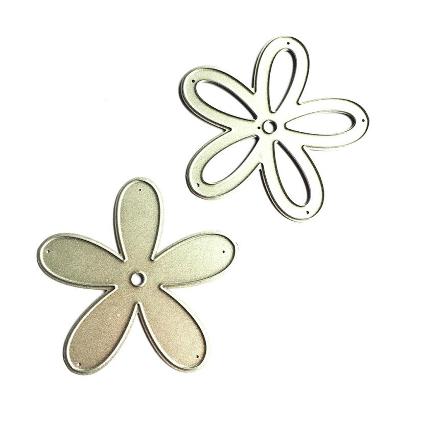 House LC New Flower Heart Metal Cutting Dies Stencils DIY Scrapbooking Album Paper Card Craft 18Apr27 Drop Ship