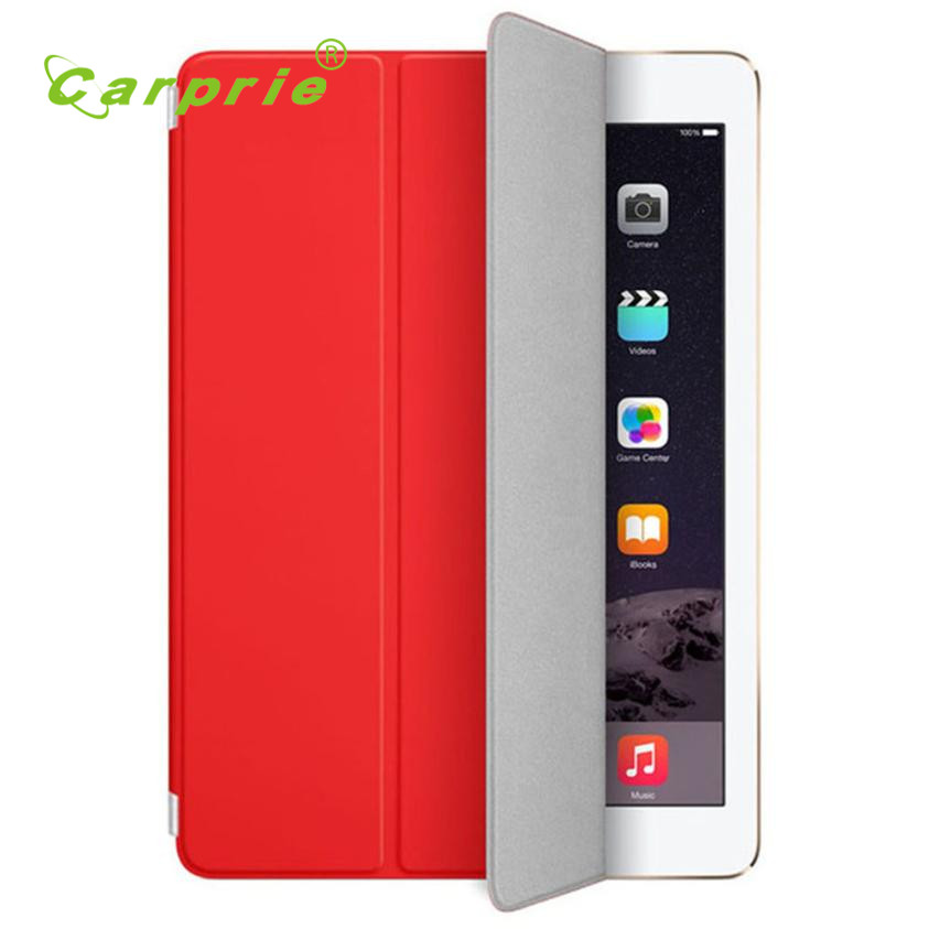 Carprie New Ultra Slim Leather Case Stand Cover For iPad 9.7 inch 2017 Tablet Pc Hot Dropshipping 17Apr25 back shell for new ipad 9 7 2017 genuine leather cover case for new ipad 9 7 inch a1822 a1823 ultra thin slim case protector