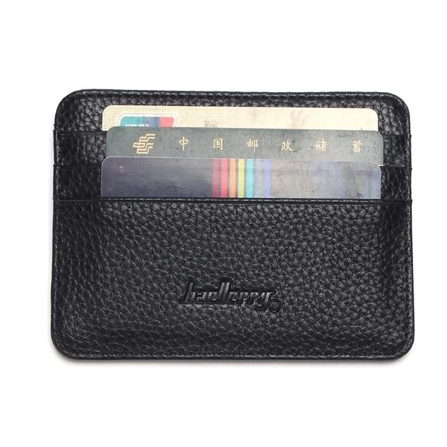6 Color Card Holder Men's Business Pocket Slim Thin ID Credit Card Money Holder Wallet  Faux leather Man Card Case Wallets 4