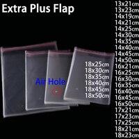 Transparente Auto-adesivo Plástico Sacos de Embalagem Saco de Jóias de Presente Brinquedo Livro Clara Envelope Saquinho Plástico Poli BOPP Sacos Violoncelo