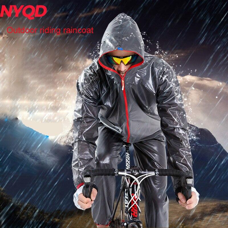 Motocicleta ciclismo chaqueta impermeable bicicleta hombres mujeres MTB montaña TPU bicicleta lluvia abrigos