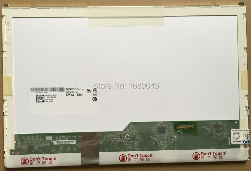 B141EW05 V.5 fit LP141WX5 TPP1 LTN141AT16 N141I6-D11 NEW 14.1 LCD LED screen for DELL E6410 notbook