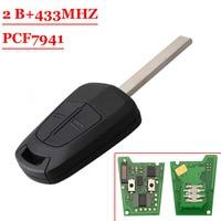 Frete grátis (1 peça) fábrica de qualidade 2 Botão do Controle Remoto da Chave Do Carro 433 Mhz PCF7941 Chip Para Opel Vauxhall Astra|Sensor e detector| |  -