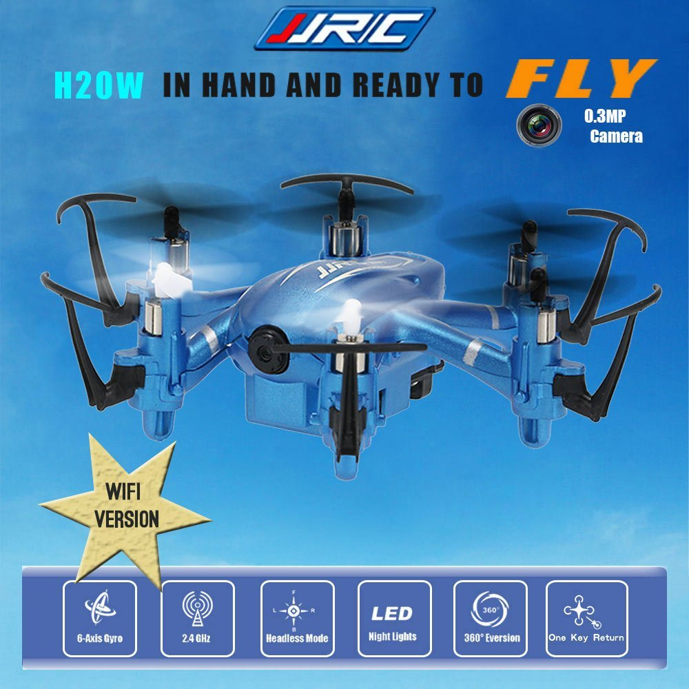 JJRC H20W Wifi FPV Drone with 0 3MP Camera Headless Mode One Key Return High Low