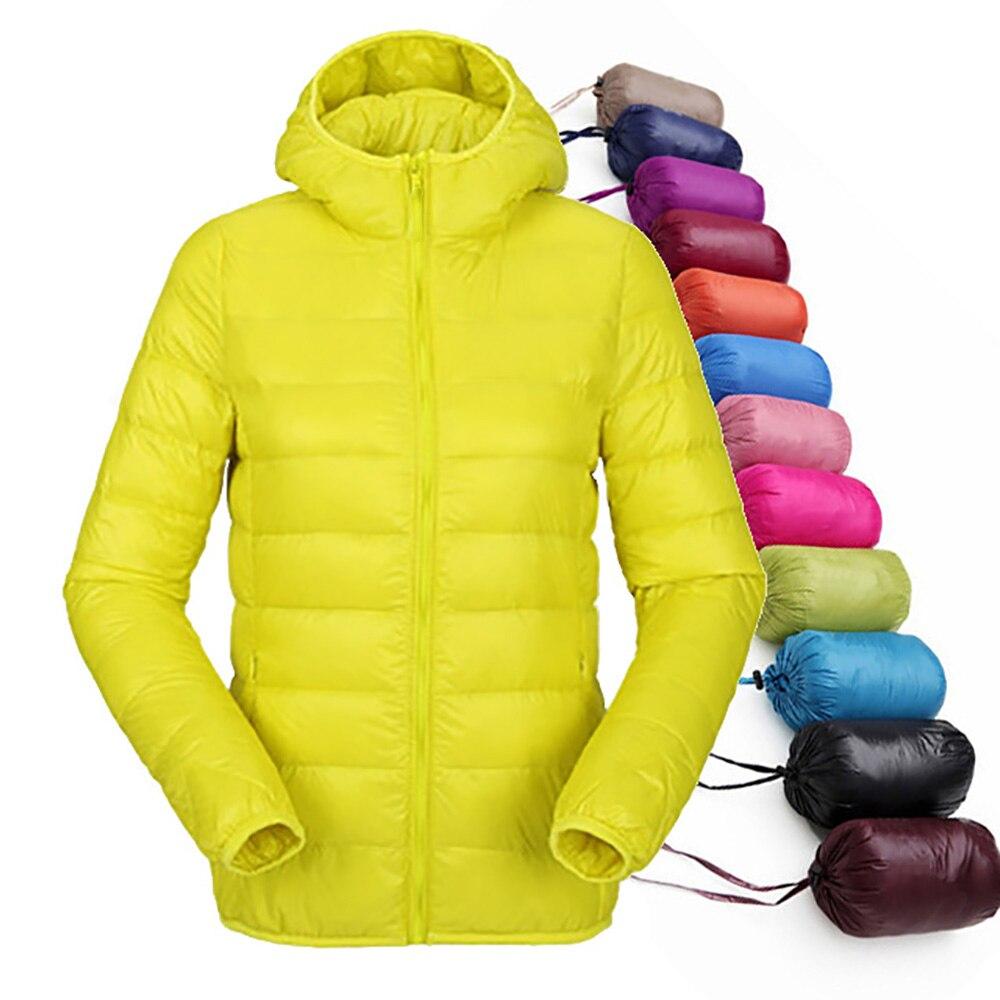 Winter Down Jacket Women Ultra Light Down 90% White Duck Down Short Coat Jacket Hooded Down Parkas Quality Brand Autumn Outwear