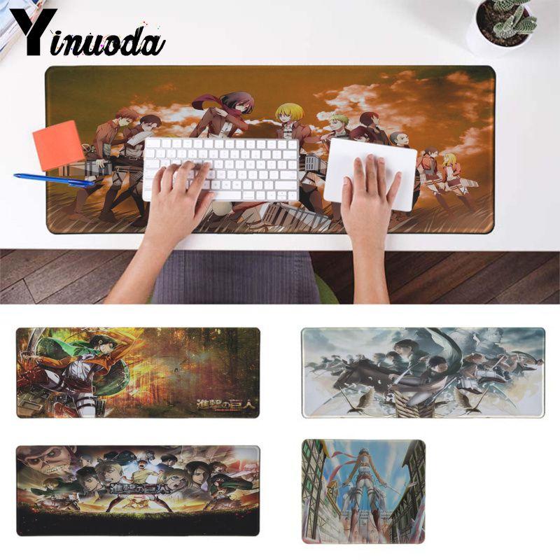 Yinuoda My Favorite Attack On Titan Keyboards Mat Rubber Gaming mousepad Desk Mat Smooth Writing Pad Desktops Mate
