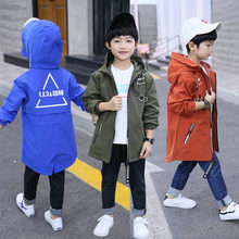 Children Outerwear Teenager Coats For 4-13Y Boys Coats and Jackets Hooded Windproof Kids Jacket Windbreaker Spring and Autumn 2018 winter children s jackets leather jacket for boys pu autumn clothes coats teenager outerwear 10 12yrs windbreaker