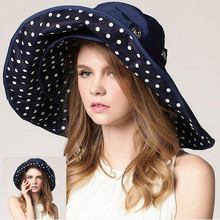 f176c596080 XdanqinX Women s Hat Foldable Big Brim Sun Hats For Women New Double Sided  Wearable Beach Caps
