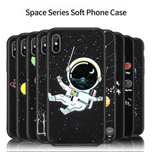 Phone Case For iPhone 8 Plus XS XR XS Max Soft Silicone TPU Cover For iPhone 5s 6s 7 Plus 8 Plus  Case Space Series Cover usams genius series case for iphone 7 plus gray
