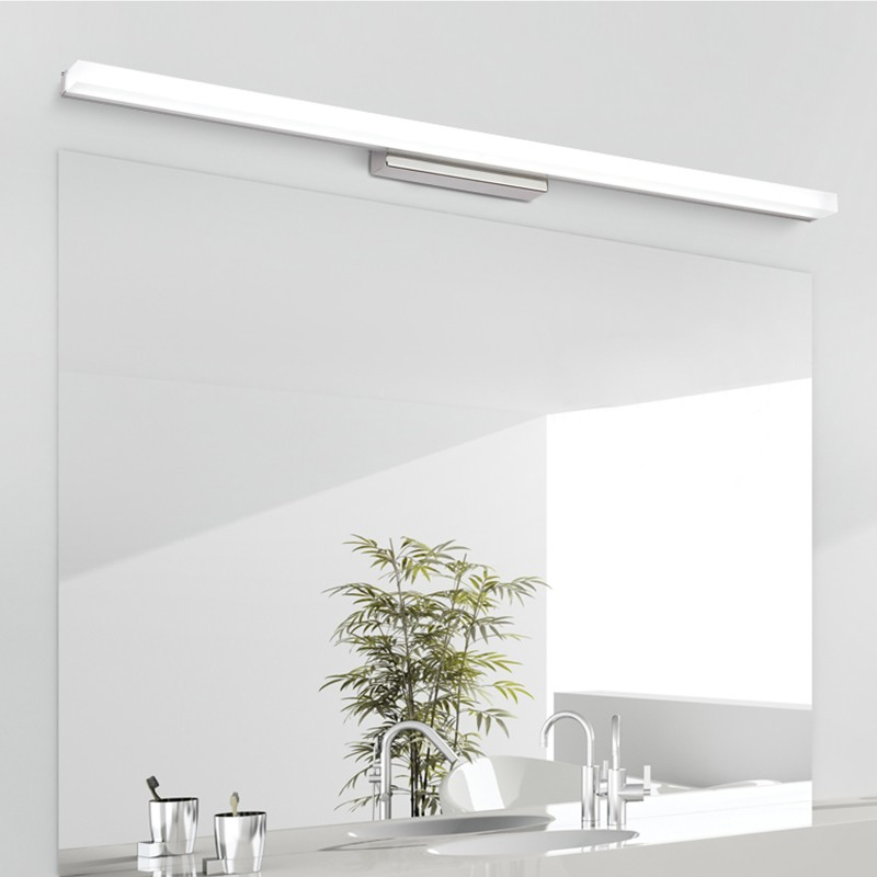 [DBF]Longer LED Mirror Light 0.39M-0.49M AC110V/220V Modern Cosmetic Acrylic Wall Mounted Wall lamp Bathroom Lighting Waterproof 38cm 58cm led mirror light 12w or 18w waterproof wall lamp fixture ac110v 220v acrylic wall mounted bathroom lighting free ship