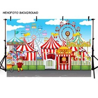 MEHOFOTO Circus Party Photo Background 7x5ft Thin Vinyl Children Photography Backdrops For Photo Studio Custom LV