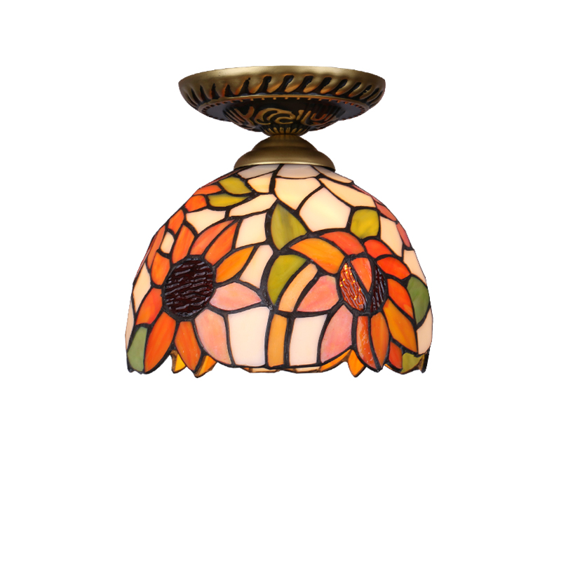 vidro criativo moderno conduziu a luz de teto com 7 w e27 lampada do quarto banheiro