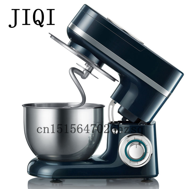 JIQI household electric food mixers egg cake dough bread stand food mixer Chef machine 600W jiqi electric chef mixing machine stand food cake egg dough bread mixer eggs beater food home use commercal baking blender 3 5l