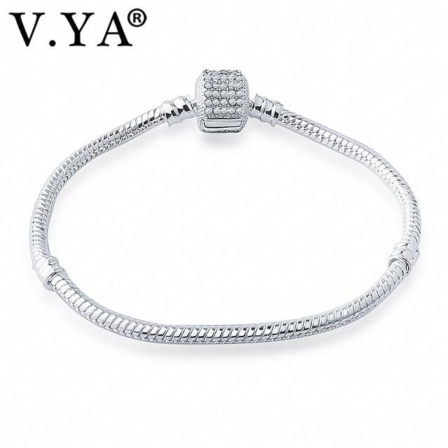 V Ya Women S Crystal Bracelet Bangle Diy Jewelry Accessory Amazing Snake Bracelets For Charm Beads