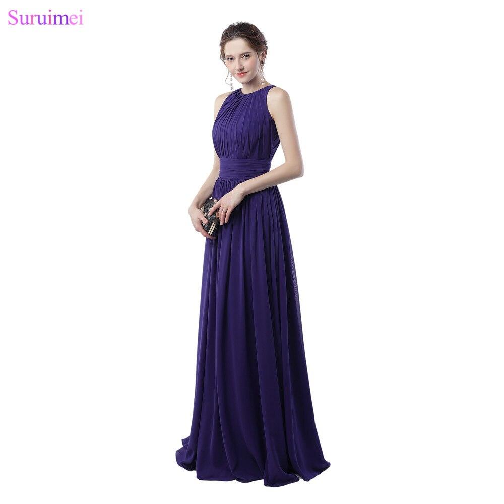 Purple   Bridesmaid     Dresses   Off The Shoulder Elegant Zippered Back Chiffon Long Brides Maid   Dress   Maid Of Honor Cheap On Sale