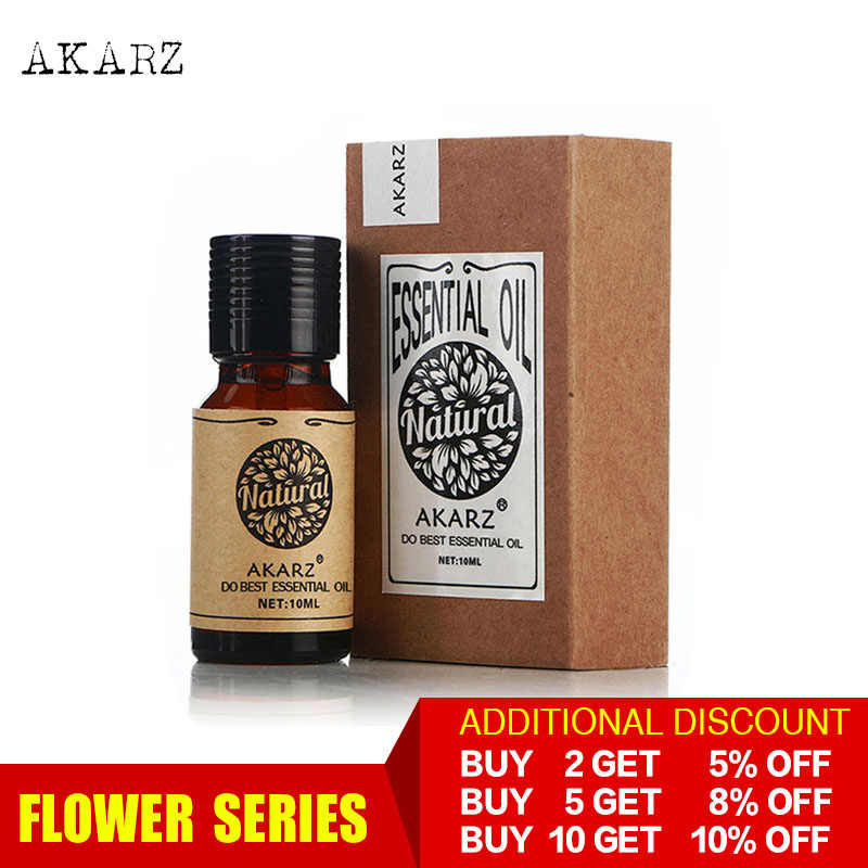 AKARZ Professionalพืชดอกไม้Series Top Sale Essential AromaticสำหรับDiffusersน้ำมันหอมระเหยFace Body Skin Care Aroma Oil