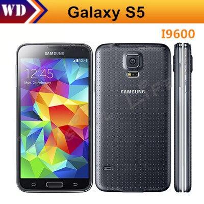 Цена за Горячие продажи s5 i9600 оригинальный разблокирована samsung galaxy s5 i9600 g900a g900f g900h 16mp четырехъядерный процессор gps wifi отремонтированы мобильный телефон