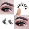 3D Mink Eyelash Arison Lashes 100% Real Mink Handmade Crossing Lashes Individual Strip Thick Lash Fake Eyelashes A153D 016