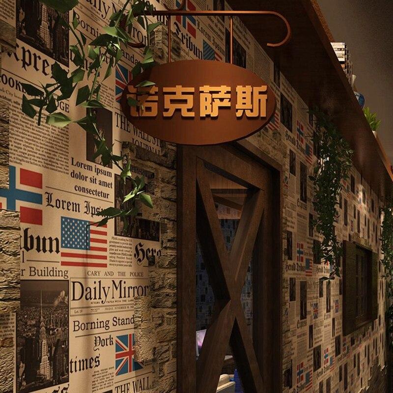 Papiers peints Décor À La Maison de Vinyle Fond D'écran Fond D'écran PVC Vintage Revêtements Muraux Restaurant Café Décor Film 53 cm X 10 m Rouleau