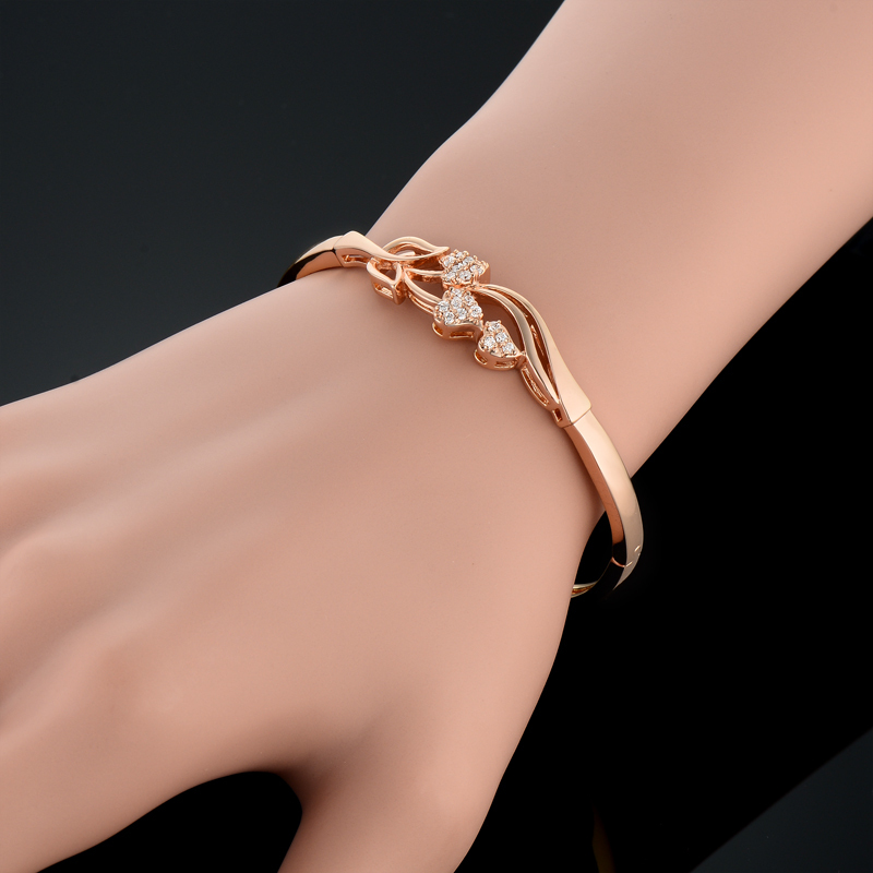 Charms Heart Decoration Indian Bangles Gold Color Heart Jewelry ...