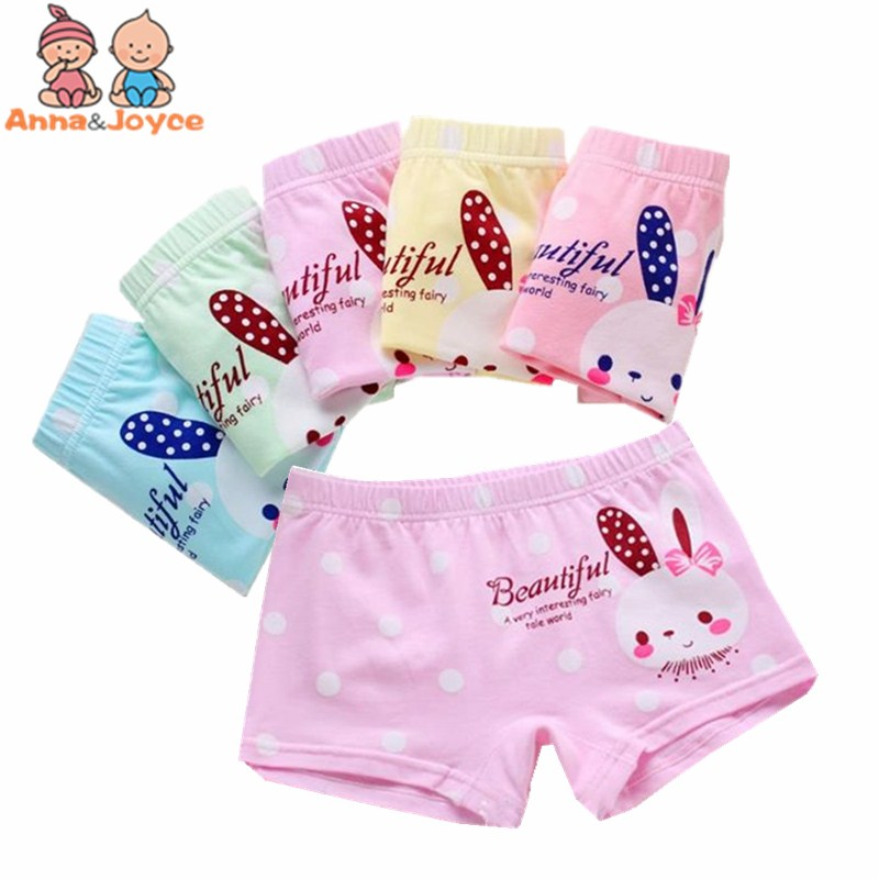 3Pcs/lot Kids Boxer Girls Underwear Cute Cartoon Kitty Bear Panties Children's Girl Boxer Pants Baby Underpants Briefs